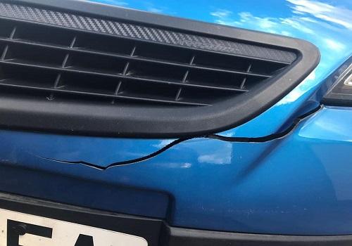 bumper crack before